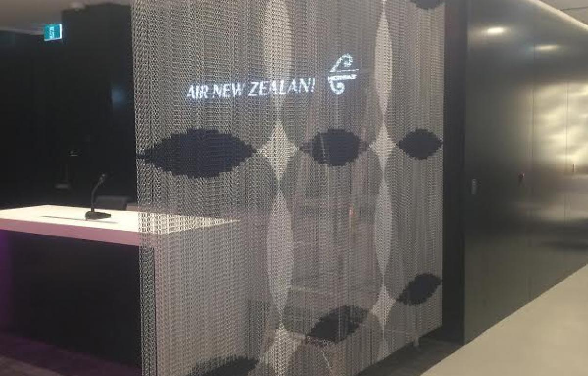 Air NZ lounge curtain